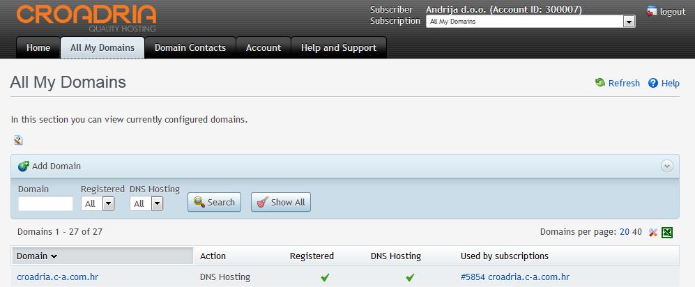 Domain alias – privremena adresa